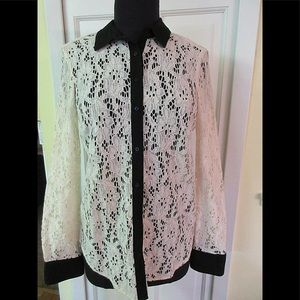 Anthropologie top by Vanessa Virginia lace sz 4